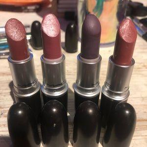 Lot of 4 Satin Mac lipsticks